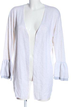 Mango Basics Kardigan biały Melanżowy W stylu casual