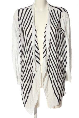 Mango Basics Kardigan biały-czarny Na całej powierzchni W stylu casual