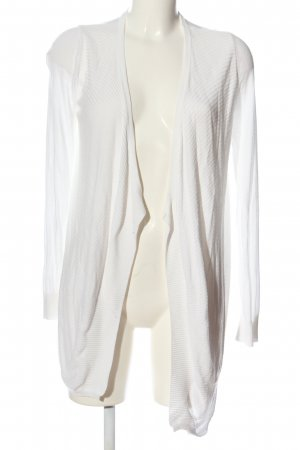 Mango Basics Kardigan biały Wzór w paski W stylu casual