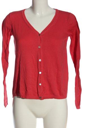 Mango Basics Kardigan czerwony W stylu casual
