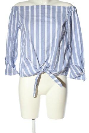 Mango Basics Carmen-Bluse blau-weiß Streifenmuster Casual-Look