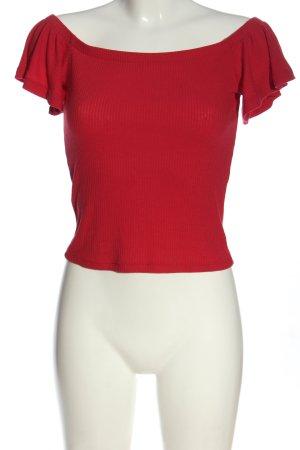 Mango Basics Koszula typu carmen czerwony W stylu casual
