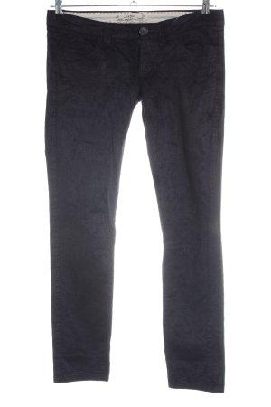 Mango Basics Corduroy Trousers black casual look