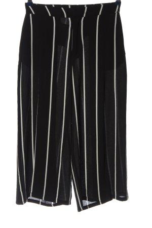 Mango Basics Culottes schwarz-weiß Streifenmuster Casual-Look