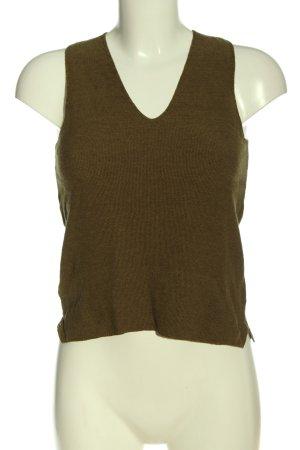 Mango Basics Sweter bez rękawów z cienkiej dzianiny brązowy W stylu casual