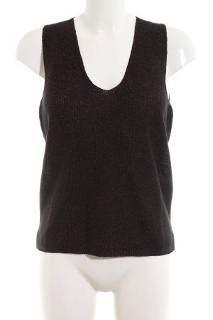 Mango Basics Fijn gebreide cardigan zwart zakelijke stijl