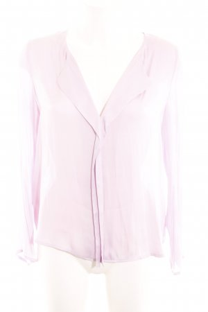 Mango Basics Glanzbluse pink Business-Look