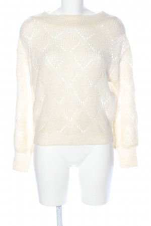 Mango Basics Crochet Sweater natural white casual look