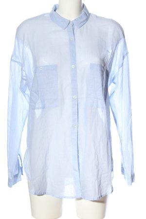 Mango Basics Hemd-Bluse blau Casual-Look