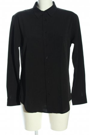 Mango Basics Hemd-Bluse schwarz Business-Look