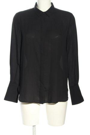 Mango Basics Hemd-Bluse schwarz Casual-Look