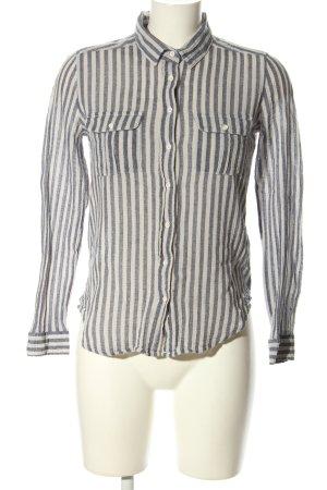Mango Basics Hemd-Bluse weiß-hellgrau Allover-Druck Business-Look