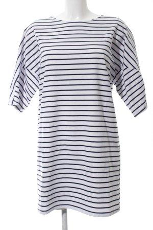 Mango Basics Jerseykleid weiß-schwarz Streifenmuster Casual-Look