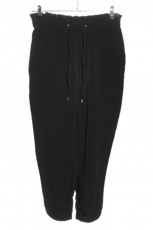 Mango Basics Peg Top Trousers black casual look