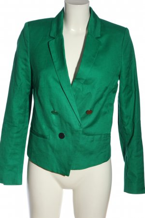 Mango Basics Kurz-Blazer grün Business-Look
