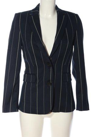Mango Basics Kurz-Blazer blau-weiß Streifenmuster Business-Look