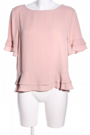 Mango Basics Kurzarm-Bluse pink Elegant