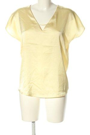Mango Basics Kurzarm-Bluse blassgelb Casual-Look