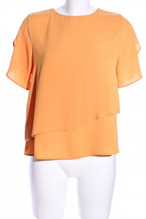 Mango Basics Kurzarm-Bluse hellorange Business-Look