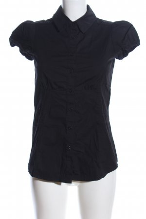 Mango Basics Kurzarm-Bluse schwarz Business-Look