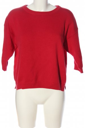 Mango Basics Jersey de manga corta rojo look casual