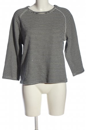 Mango Basics Stripe Shirt white-black striped pattern casual look