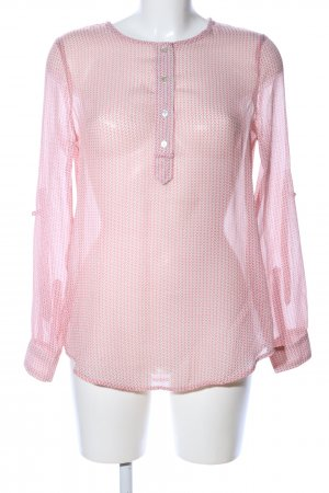 Mango Basics Langarm-Bluse pink Allover-Druck Casual-Look