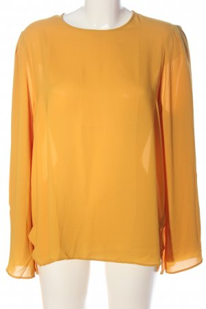 Mango Basics Langarm-Bluse hellorange Business-Look