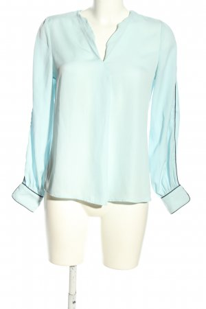 Mango Basics Langarm-Bluse blau Business-Look