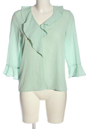 Mango Basics Langarm-Bluse grün Business-Look