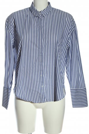 Mango Basics Langarmhemd blau-weiß Streifenmuster Casual-Look