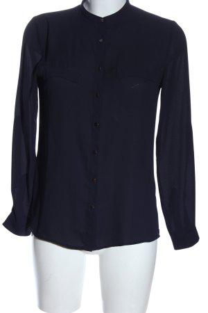 Mango Basics Langarmhemd blau Business-Look