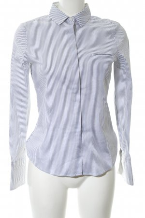 Mango Basics Langarmhemd weiß-blau Streifenmuster Business-Look
