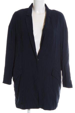 Mango Basics Lange Jacke blau Casual-Look