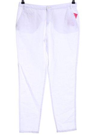 Mango Basics Pantalón de lino blanco look casual
