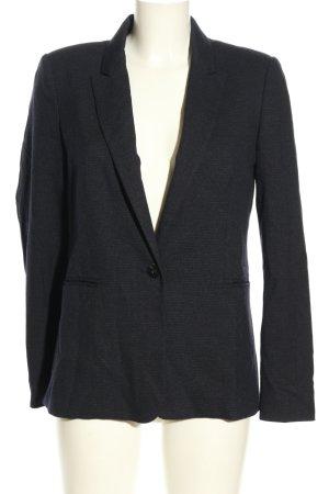 Mango Basics Blazer lungo grigio chiaro puntinato stile professionale