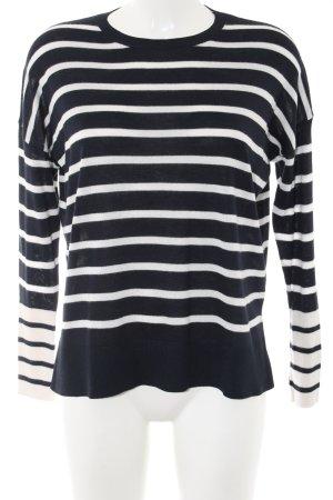 Mango Basics Longsleeve weiß-schwarz Streifenmuster Casual-Look