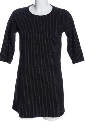 Mango Basics Minikleid schwarz-hellgrau Streifenmuster Casual-Look