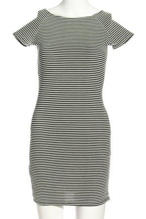 Mango Basics Minikleid schwarz-weiß Allover-Druck Casual-Look