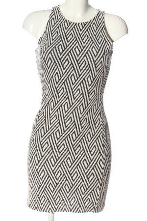Mango Basics Minikleid weiß-schwarz Allover-Druck Casual-Look