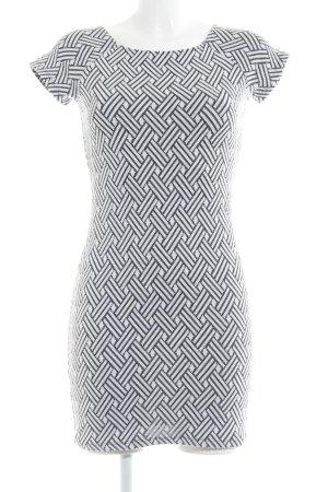 Mango Basics Minikleid schwarz-weiß Mustermix Business-Look