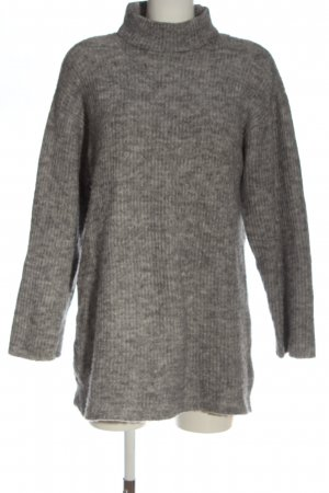 Mango Basics Abito maglione grigio chiaro puntinato stile casual
