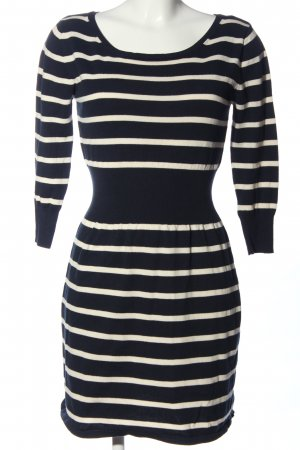 Mango Basics Sweater Dress black-white striped pattern casual look