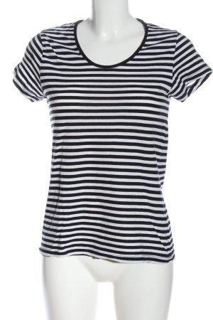 Mango Basics Ringelshirt schwarz-weiß Streifenmuster Casual-Look