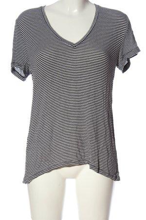 Mango Basics T-shirt rayé bleu-blanc motif rayé style décontracté