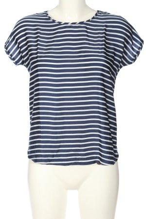 Mango Basics Ringelshirt blau-weiß Streifenmuster Casual-Look