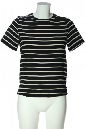 Mango Basics Stripe Shirt black-white striped pattern casual look