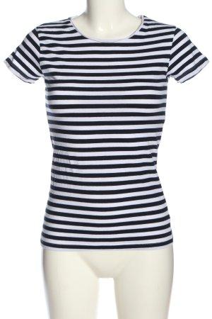 Mango Basics Ringelshirt schwarz-weiß Allover-Druck Casual-Look