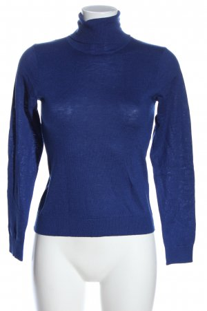 Mango Basics Turtleneck Shirt blue casual look