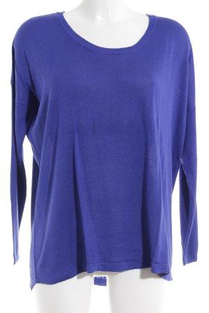 Mango Basics Rundhalspullover blauviolett Casual-Look